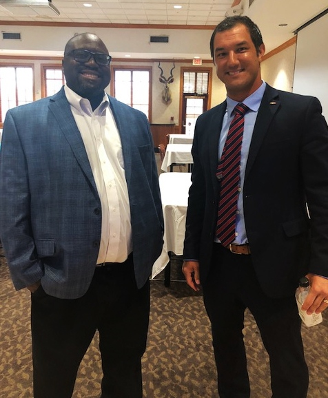 Dr. Andre Williams and Candidate Mike Giallombardo