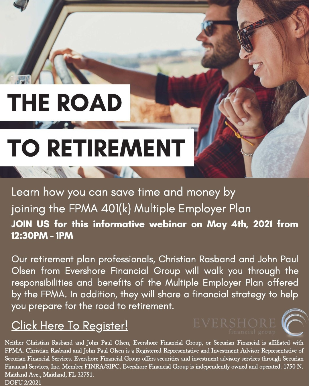 The Road to Retirement Webinar