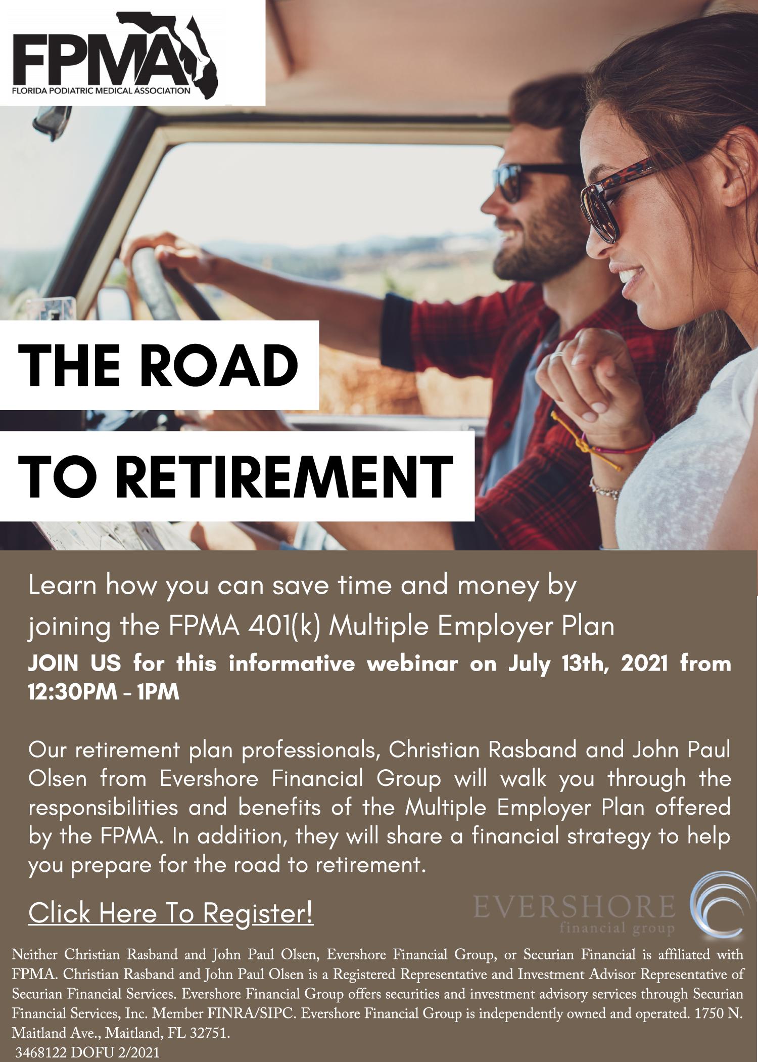 Road to Retirement Webinar graphic